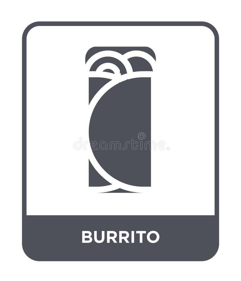 Burrito icon in trendy design style. burrito icon isolated on white background. burrito vector icon simple and modern flat symbol. For web site, mobile, logo royalty free illustration