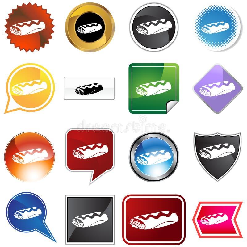burrito ikony set ilustracji
