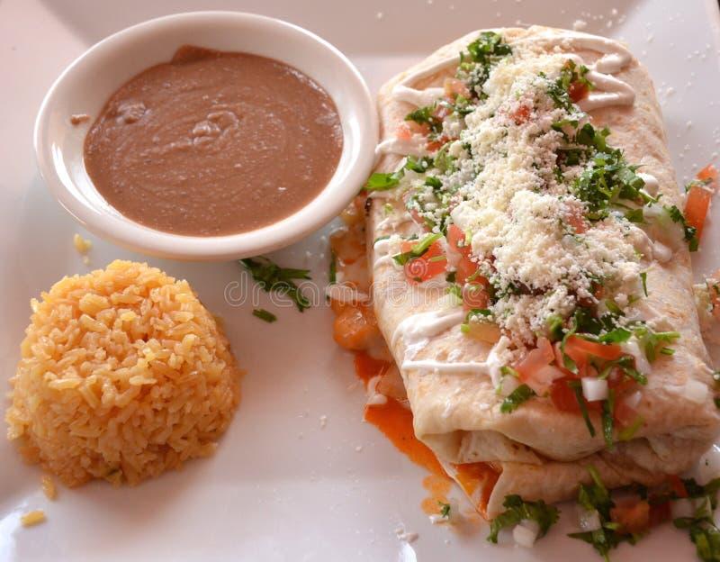 Burrito Lumch fotografia stock libera da diritti