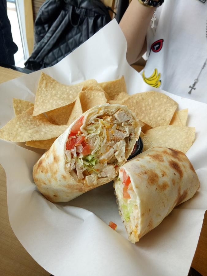 Burrito meksykanina jedzenie fotografia stock