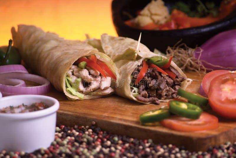 Burrito messicano fotografia stock