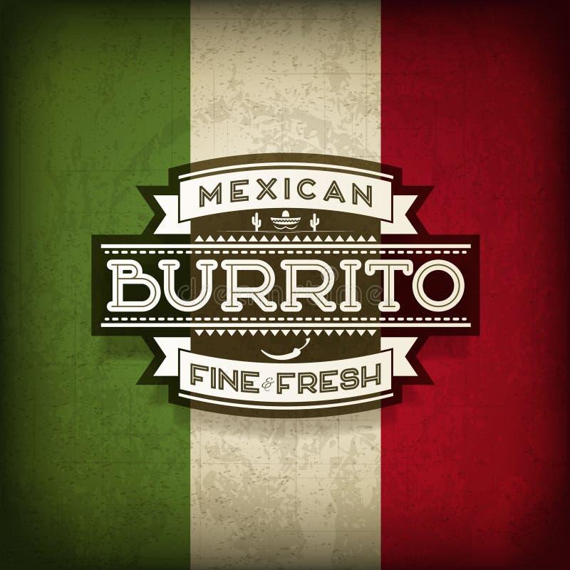 Burrito mexicain illustration de vecteur
