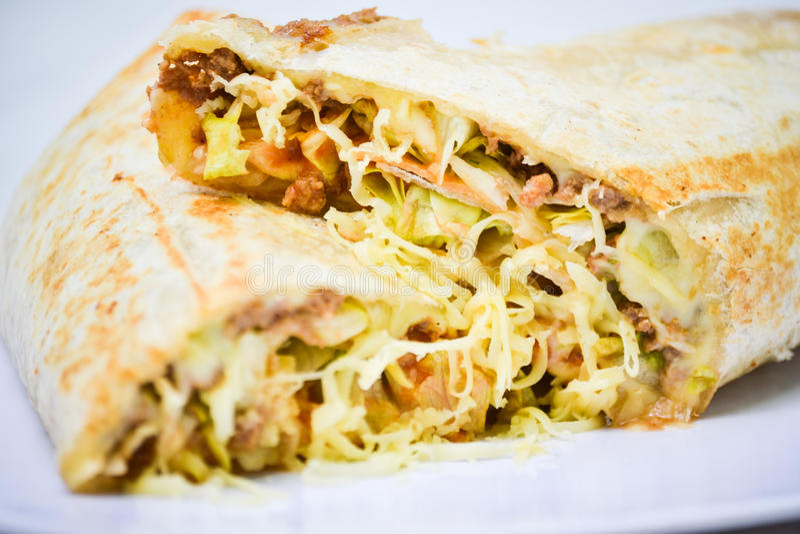 Burrito mexicano fotografia de stock