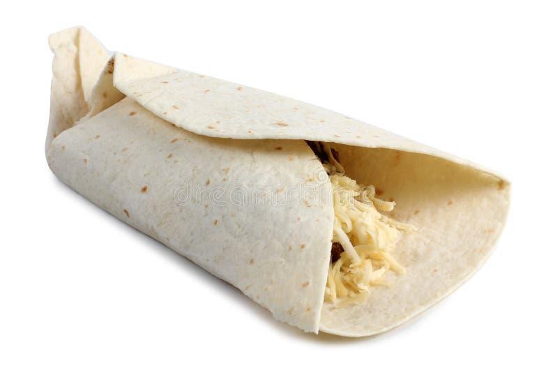 Burrito mexicano cinco foto de archivo