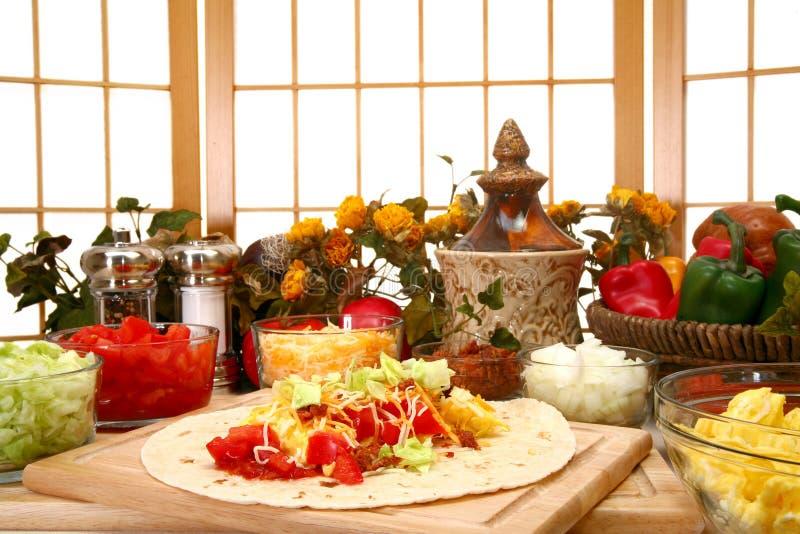burrito na śniadanie zdjęcie stock