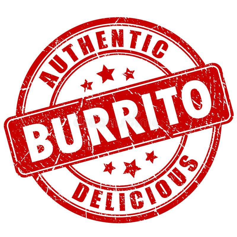 Burrito wektoru znaczek ilustracja wektor