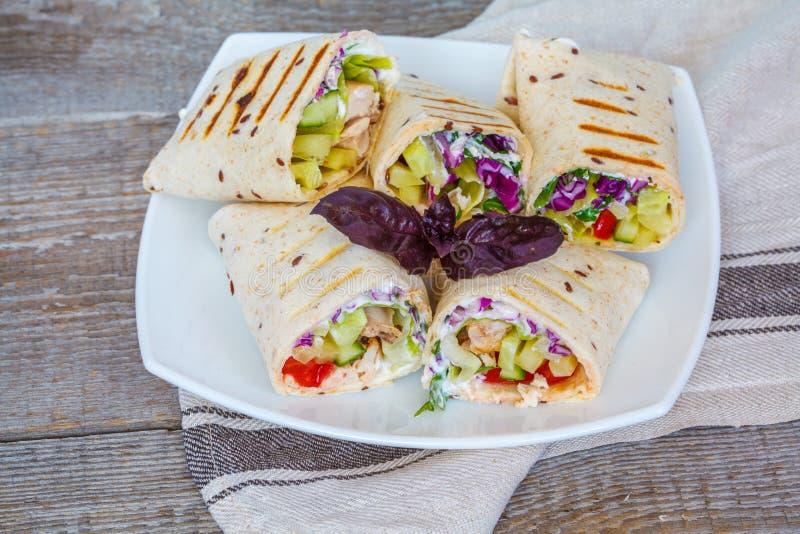 Burrito wraps royalty free stock image
