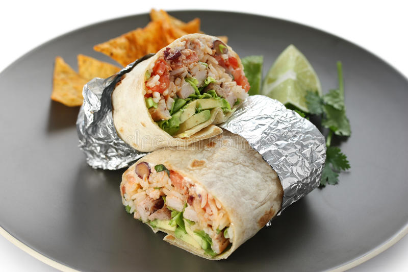 Burritos stock image