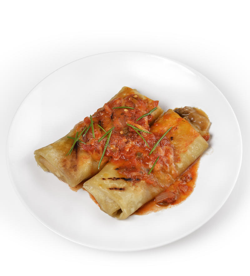 Burritos messicani fotografie stock libere da diritti