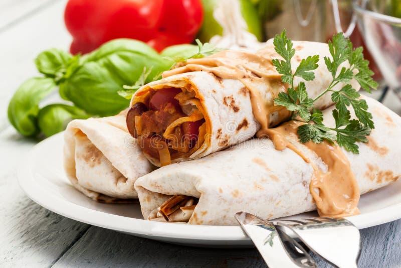 Burritos mexicains photos stock
