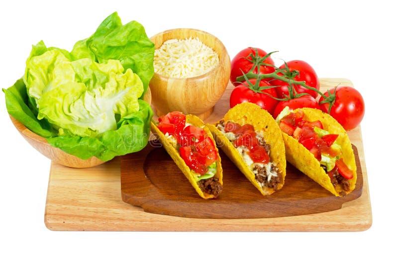 Burritos Mexicanos Com Ingredientes Fotografia de Stock Royalty Free