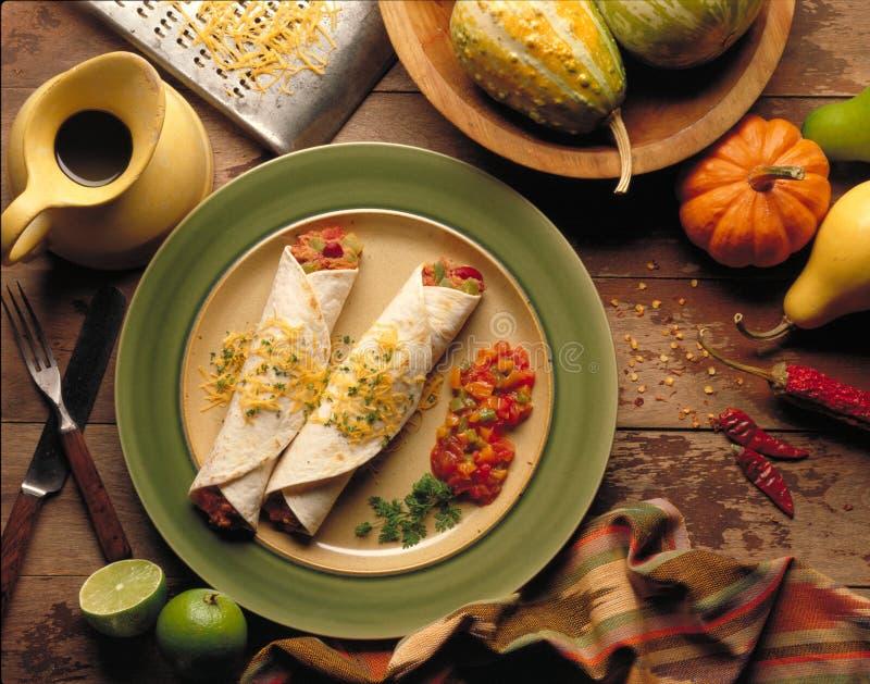 Burritos/taco's stock afbeeldingen