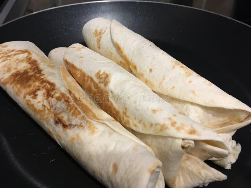 Burritoverpackungen lizenzfreie stockfotografie