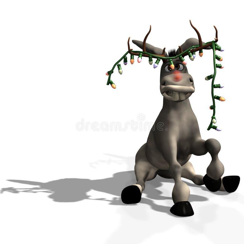 Burro de la Navidad stock de ilustración