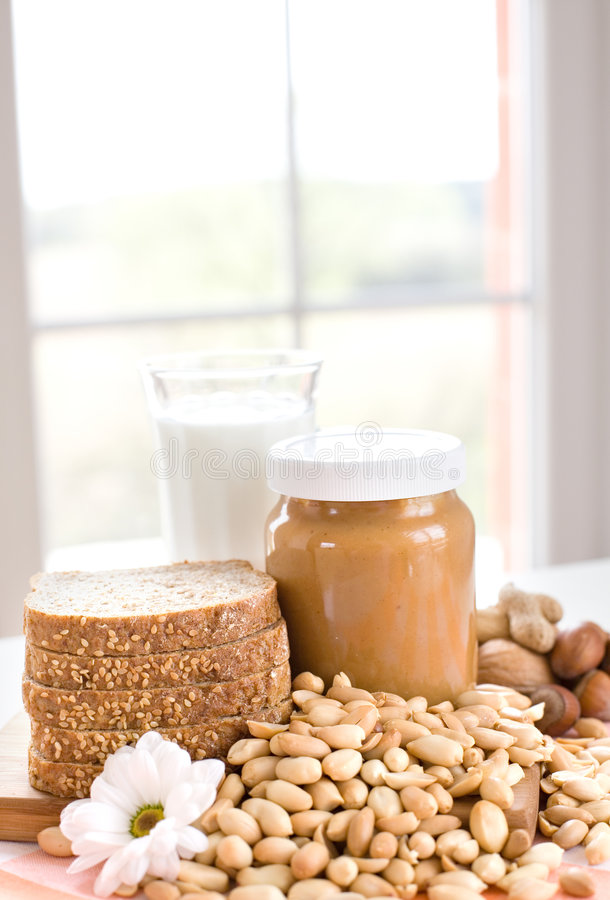 Burro di arachide fotografia stock libera da diritti