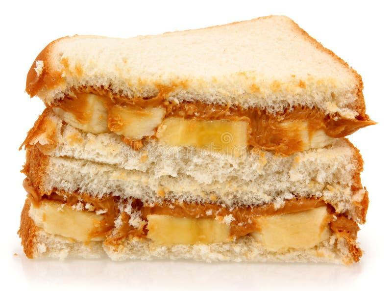 Burro e banana di arachide immagini stock libere da diritti