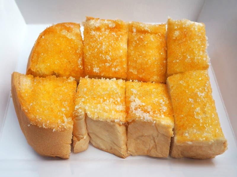 Burro e Sugar Toast deliziosi fotografia stock