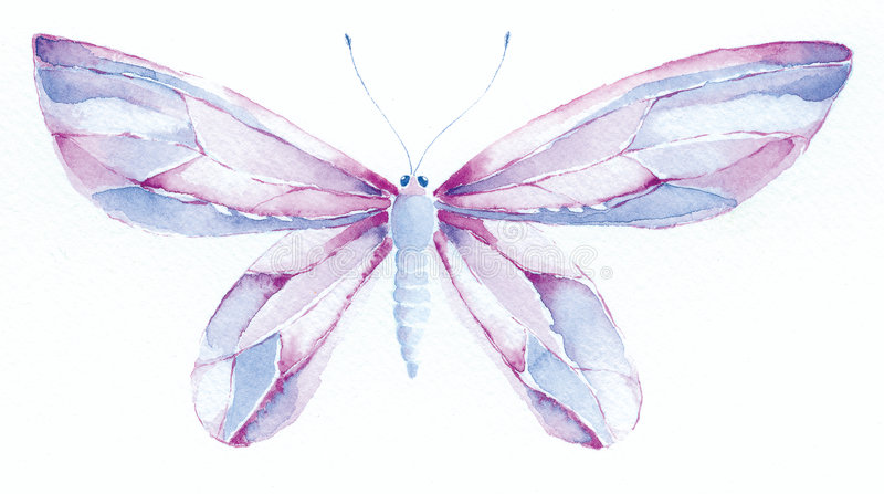 Burro viola e blu di fantasia royalty illustrazione gratis