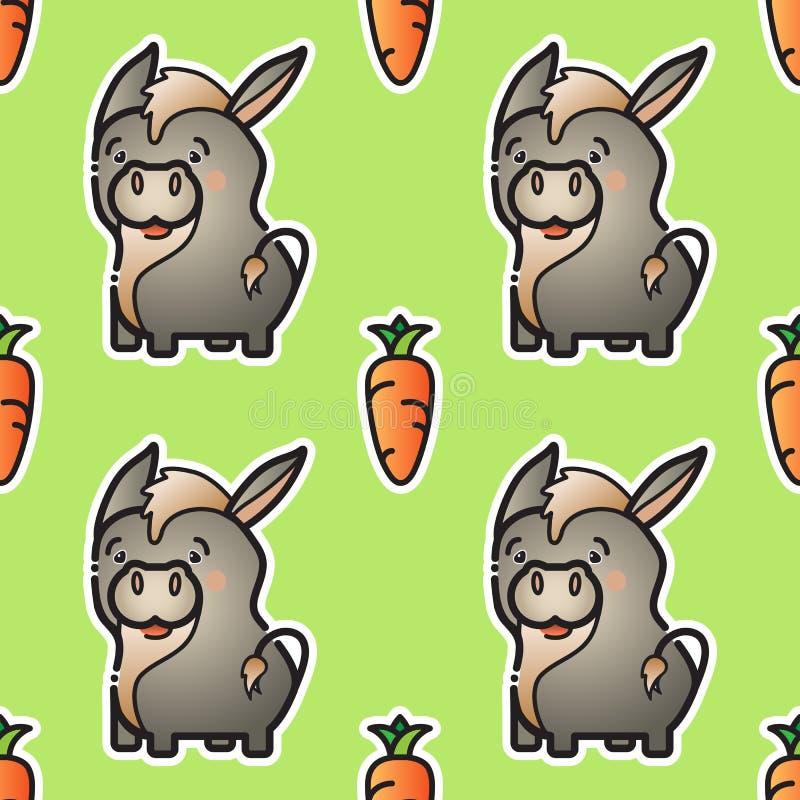 Burro Y Zanahoria Lindos Vector El Modelo Inconsutil Ilustracion Del Vector Ilustracion De Burro Modelo 100295102 El burro probablemente pensó que el coche era una zanahoria sobre ruedas. dreamstime