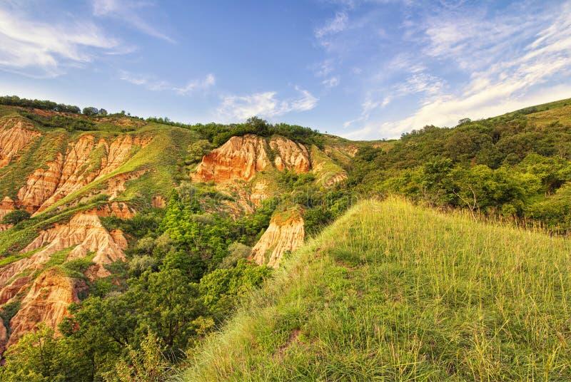 Burrone rosso - Rapa Rosie - Romania, Alba Iulia fotografia stock