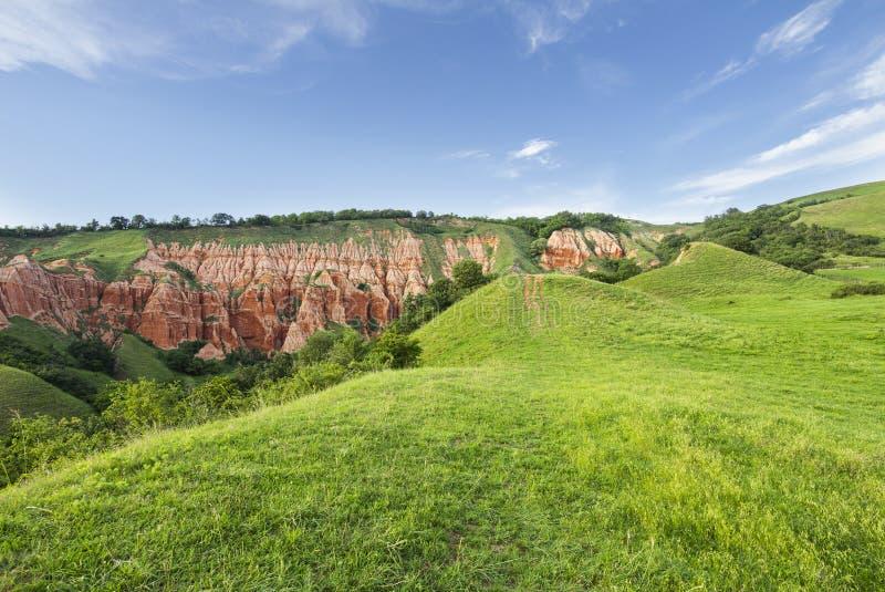 Burrone rosso - Rapa Rosie - Romania, Alba Iulia fotografie stock