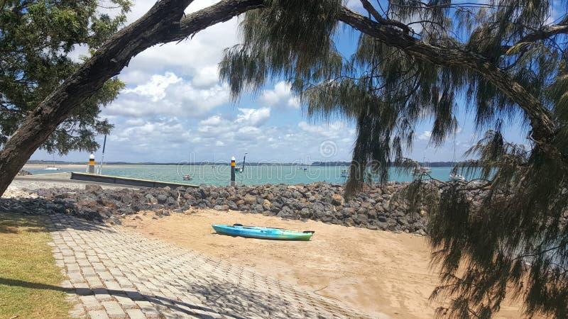 Burrum leidt een kleine toeristentoevlucht in Queensland stock afbeelding
