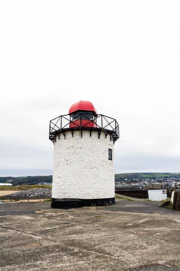Burry маяк порта стоковое фото rf