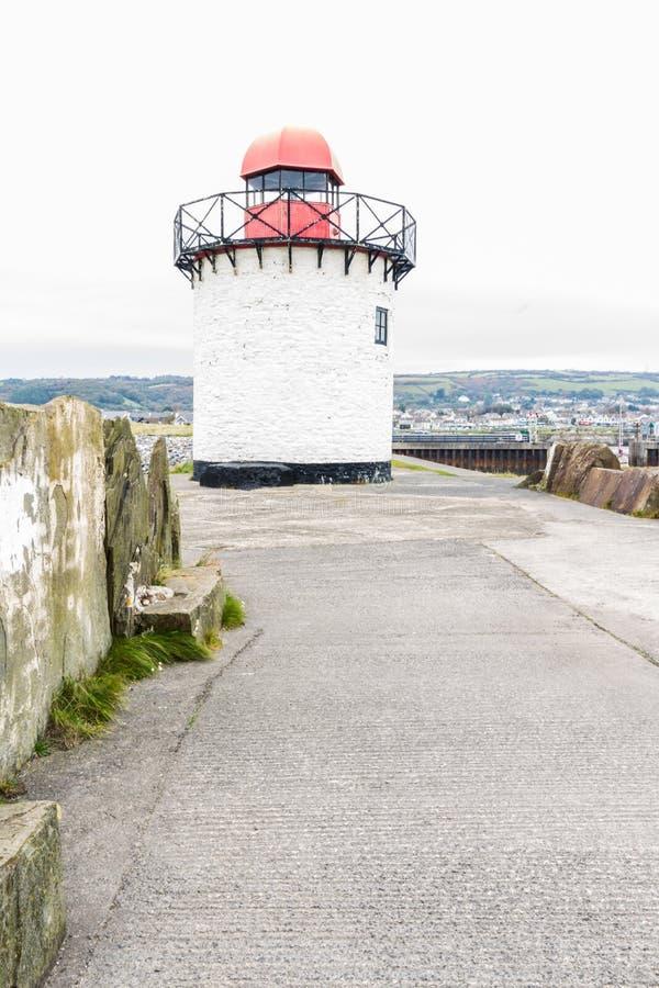 Burry маяк порта стоковое изображение