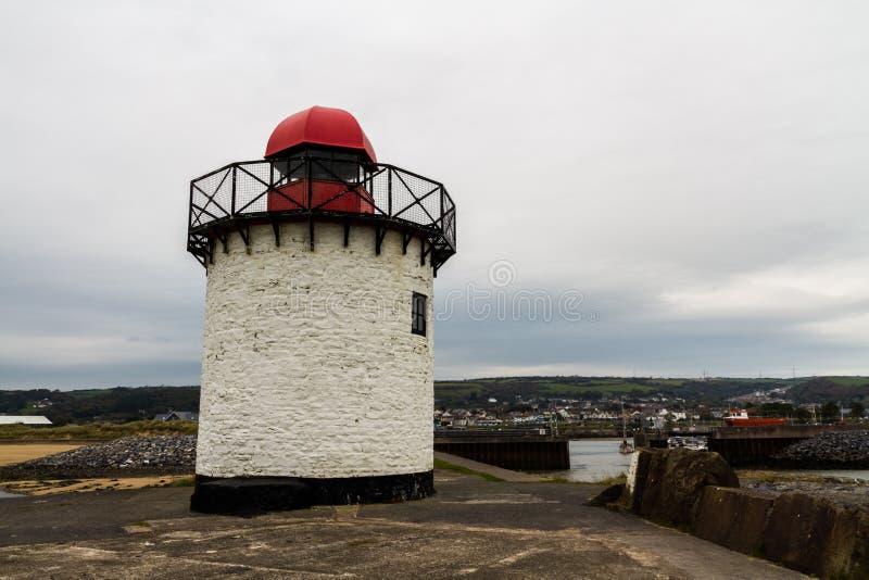 Burry Hafen-Leuchtturm stockfotos