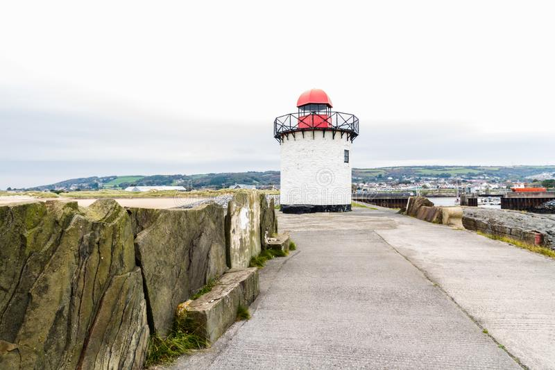 Burry Hafen-Leuchtturm stockfotografie