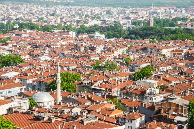 Beautiful scenery of the city Bursa, Turkey. Bursa is a large city in Turkey, located in northwestern Anatolia, within the Marmara Region. It is the fourth most stock photo