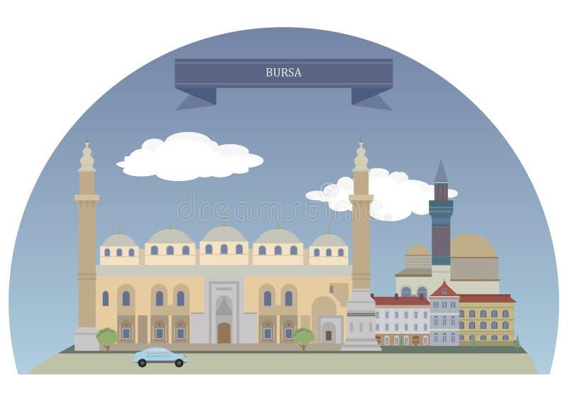Bursa, Turcja ilustracja wektor