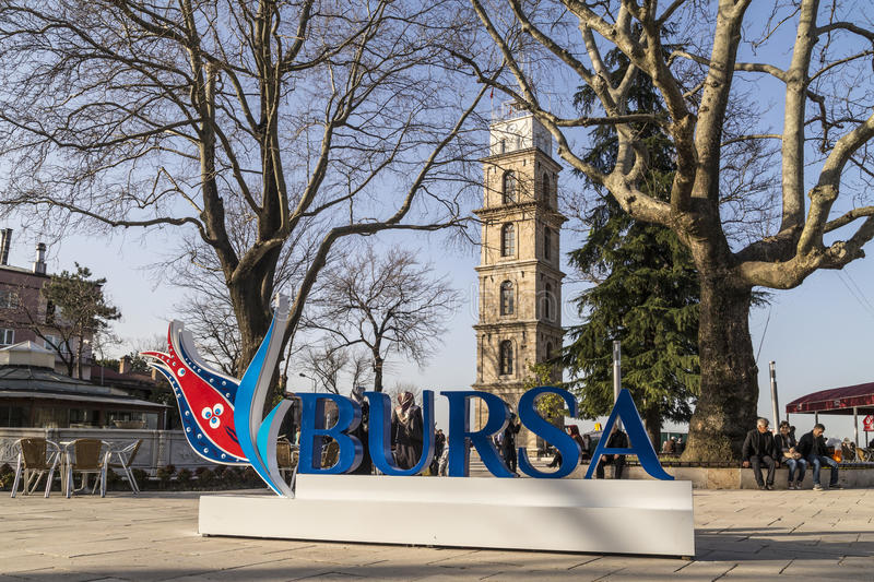 Bursa Turkiet royaltyfria bilder