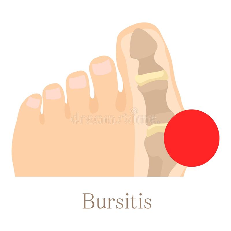 Bursitis icon, cartoon style royalty free illustration