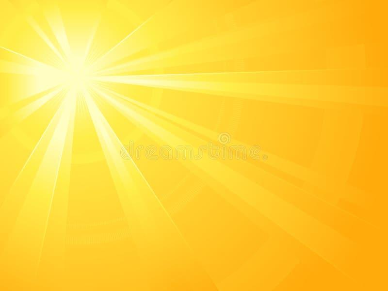 Burst asimmetrico dell'indicatore luminoso del sole illustrazione di stock