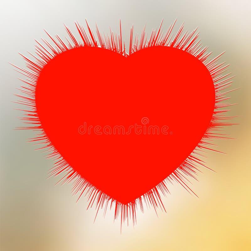 Burst astratto del cuore. illustrazione vettoriale