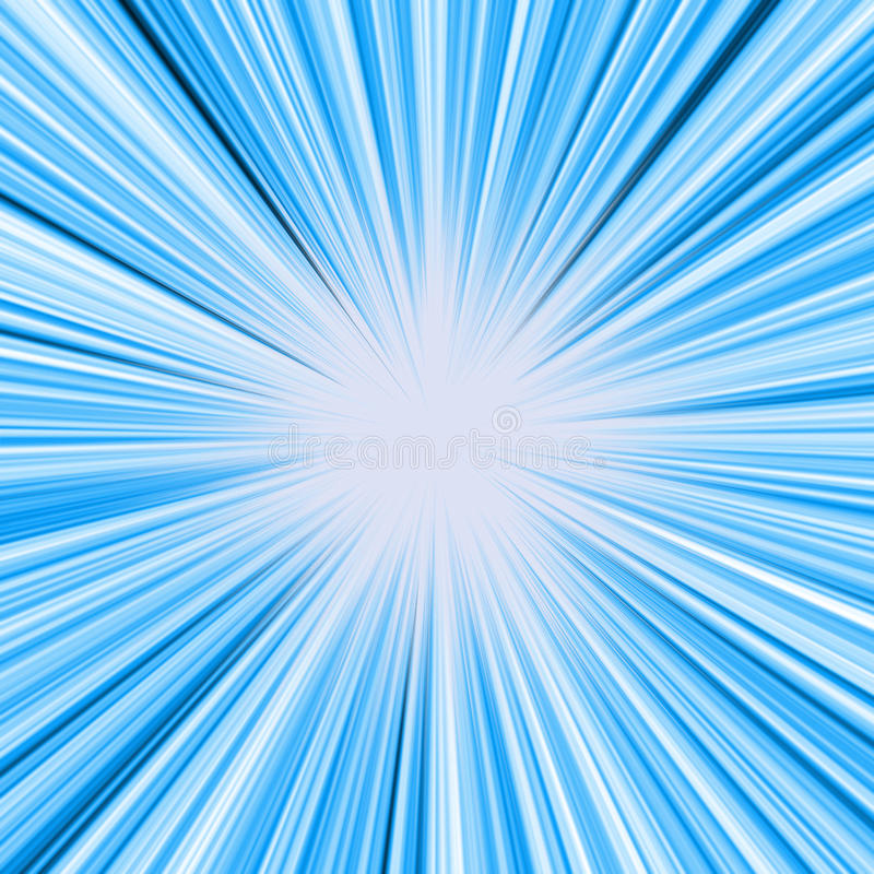 Burst blu dell'indicatore luminoso illustrazione vettoriale