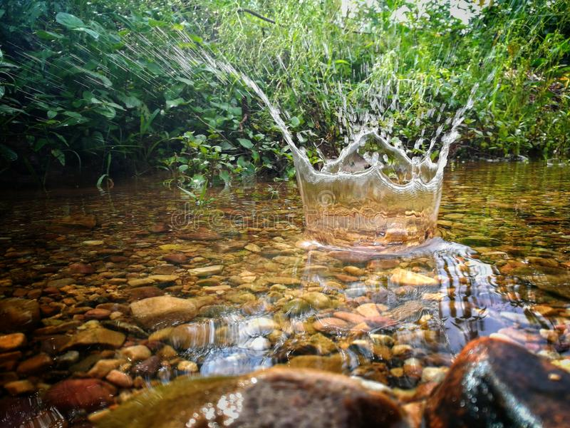 Water. Burst Crown click royalty free stock photography