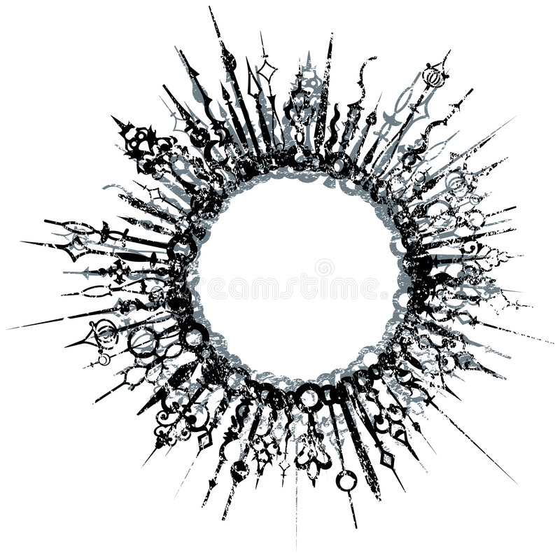 Burst decorato di Grunge illustrazione vettoriale