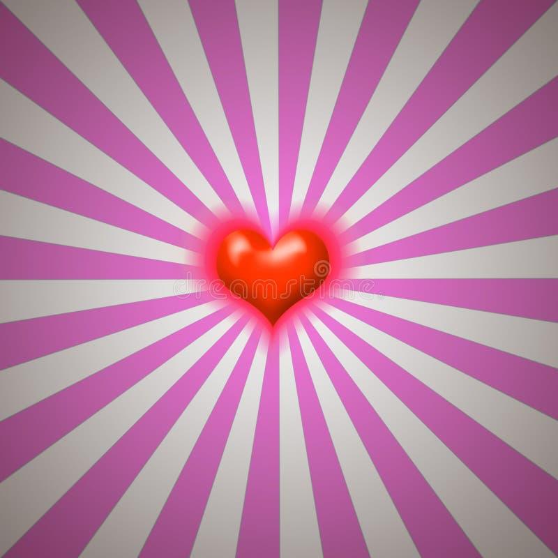 Burst del cuore illustrazione vettoriale