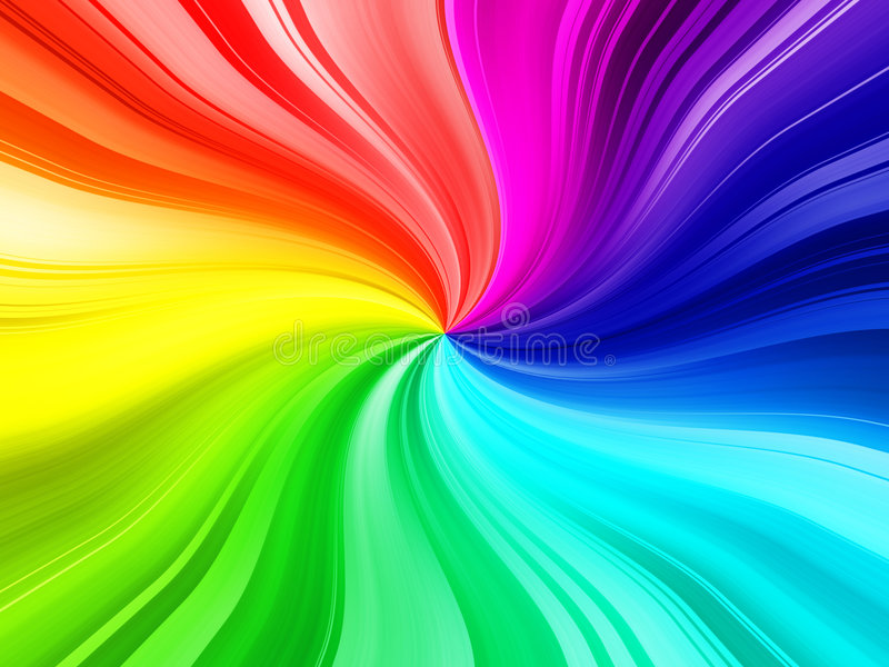 Burst del Rainbow illustrazione vettoriale