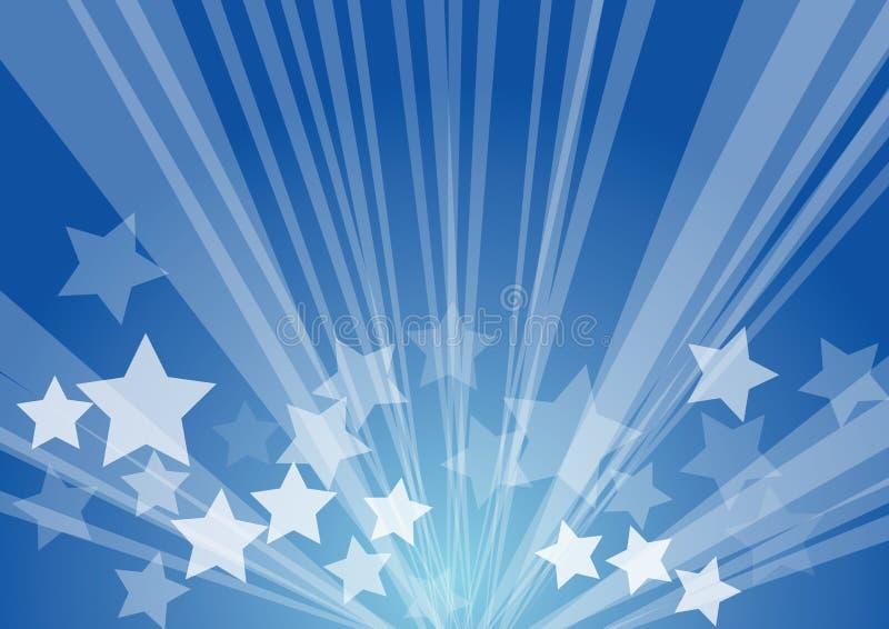 Burst della stella illustrazione vettoriale