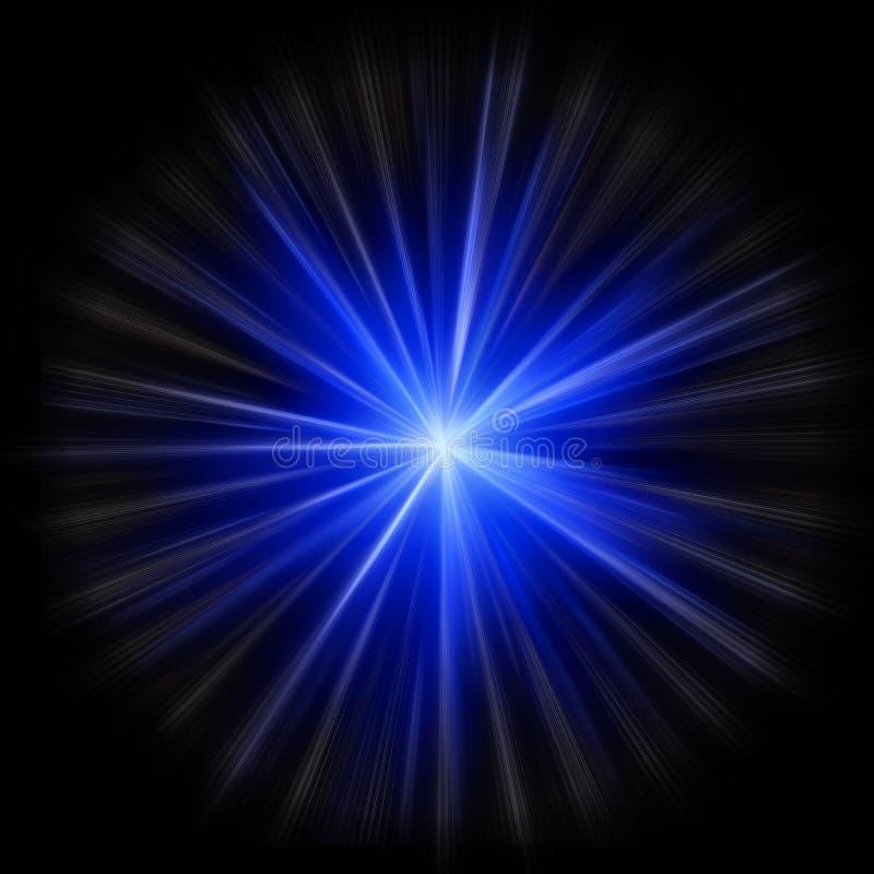 Burst della stella della supernova illustrazione vettoriale