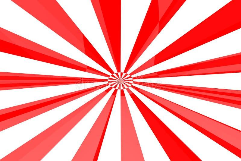 Burst di bianco & di colore rosso illustrazione vettoriale