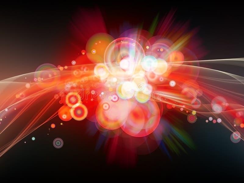 Burst di colore esplosivo illustrazione vettoriale