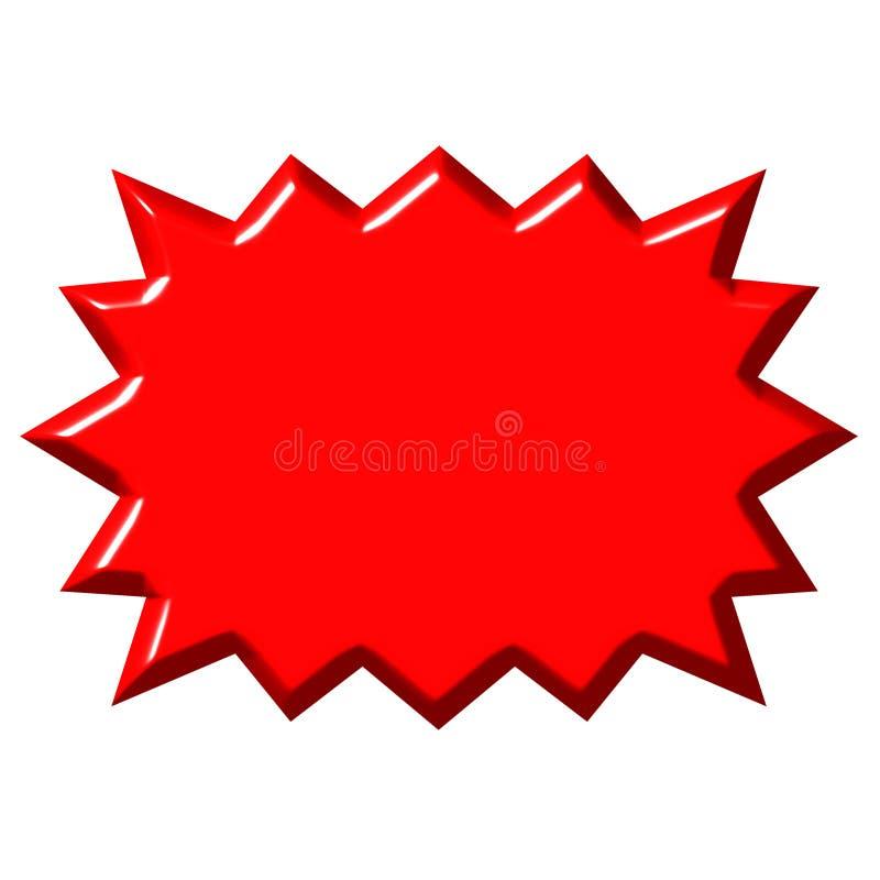 burst di colore rosso 3D royalty illustrazione gratis