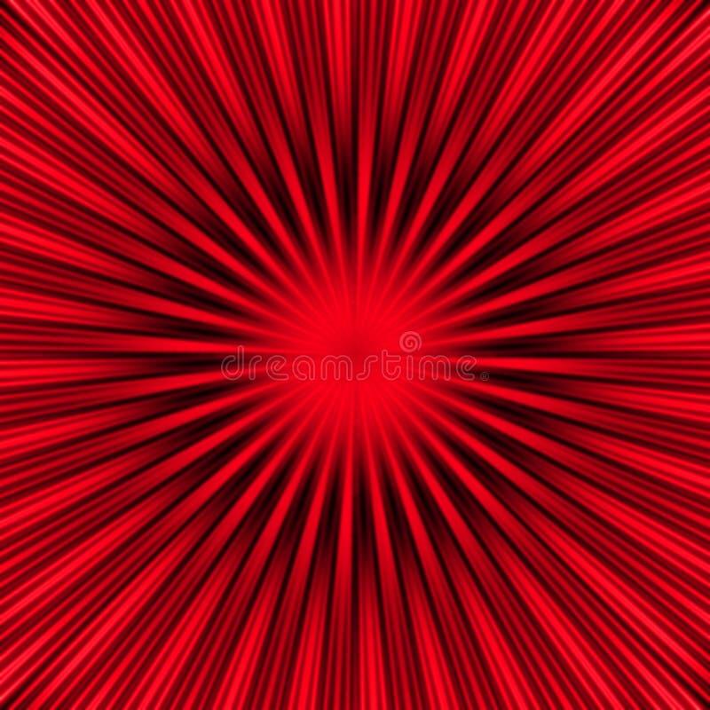 Burst di colore rosso illustrazione vettoriale