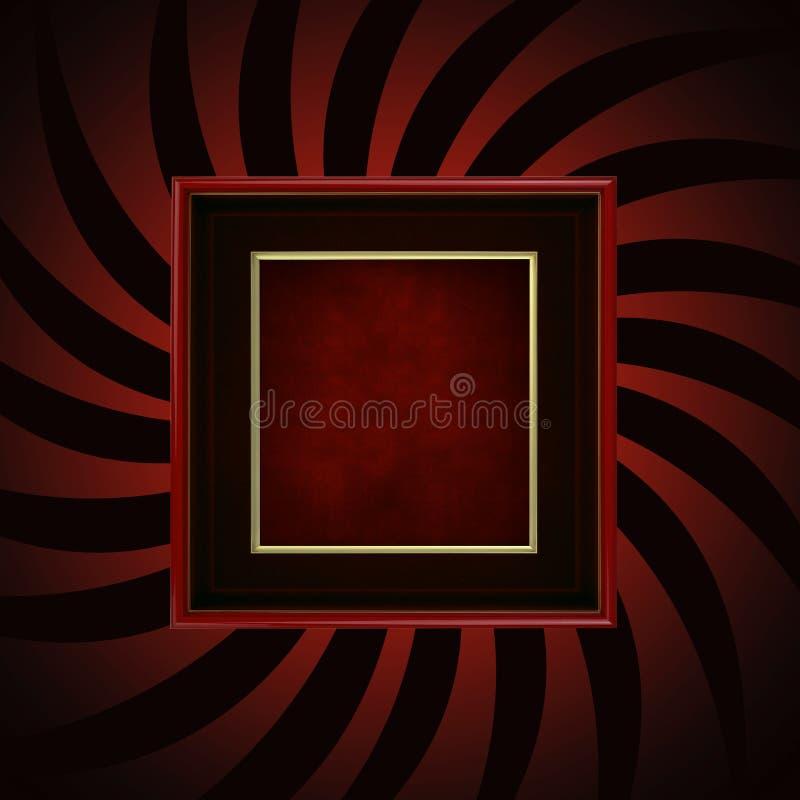 Burst di colore rosso della pagina illustrazione di stock