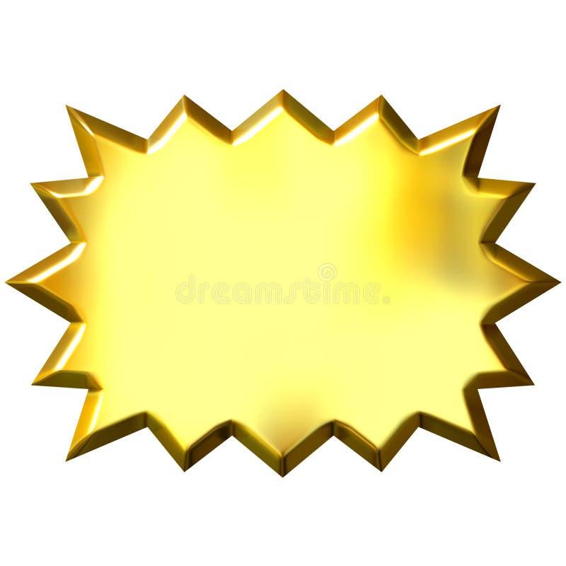 burst dorato 3D illustrazione vettoriale