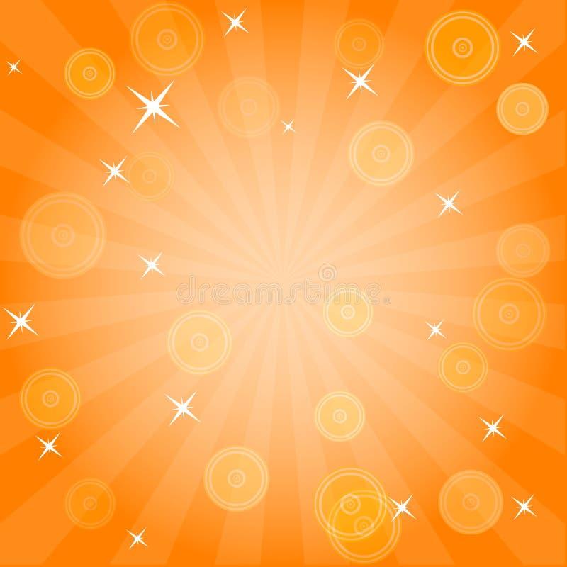 Burst e stelle illustrazione di stock